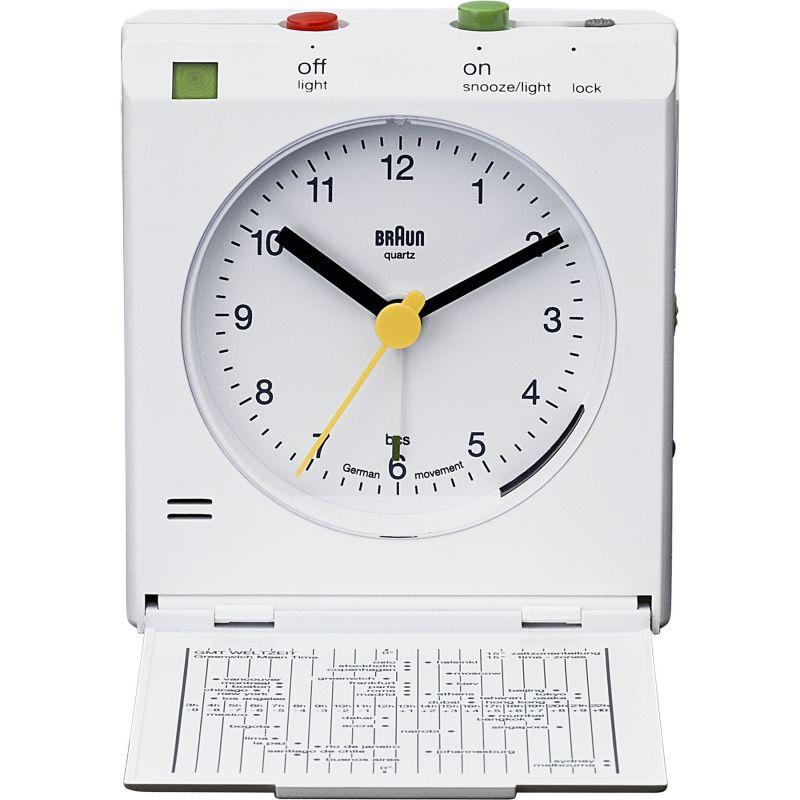 Braun Clocks - BNC005 Classic Relflex Control Travel Alarm Clock