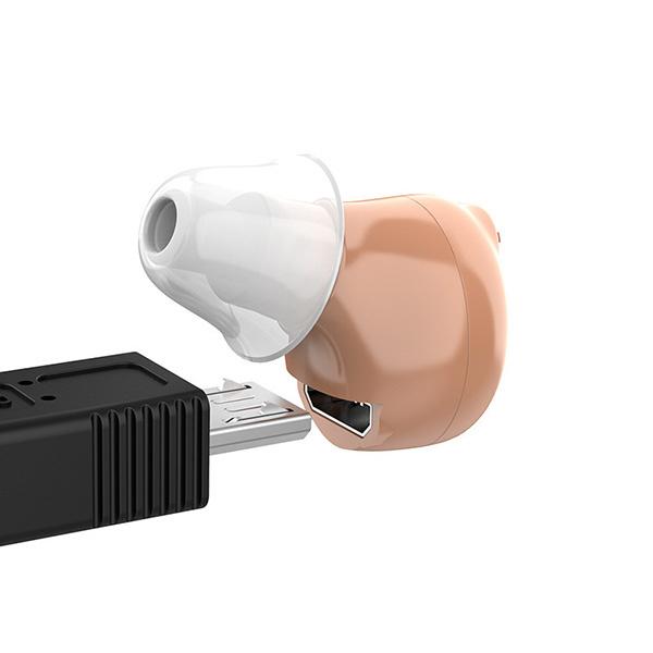 日本TSK - D-8000迷你隱形充電式自動降噪助聽器