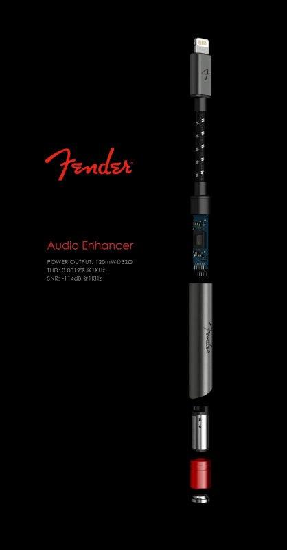 Fender AE1i 專用高音質解碼耳擴轉換線[iPhone/iPad/iPod]