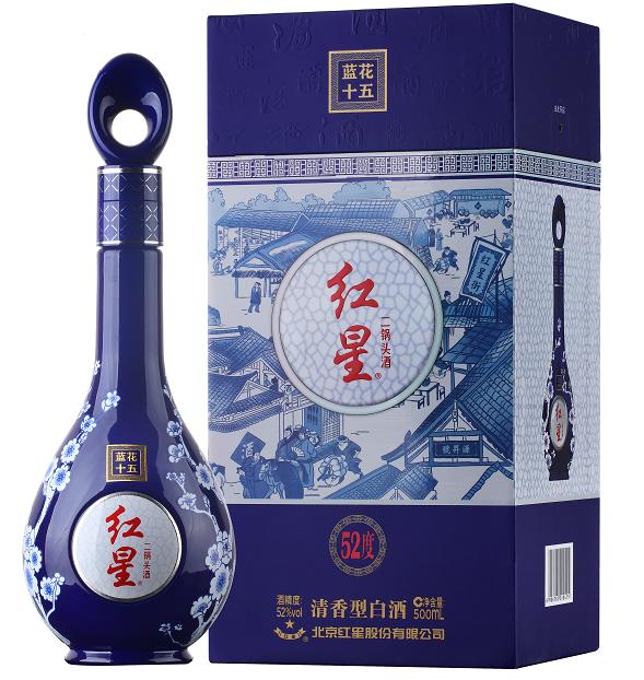 紅星 二鍋頭酒 藍花十五 (52%)