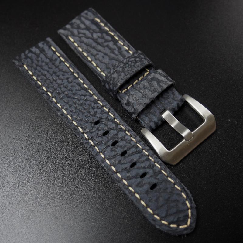 24mm Panerai 太空藍色海豹皮錶帶