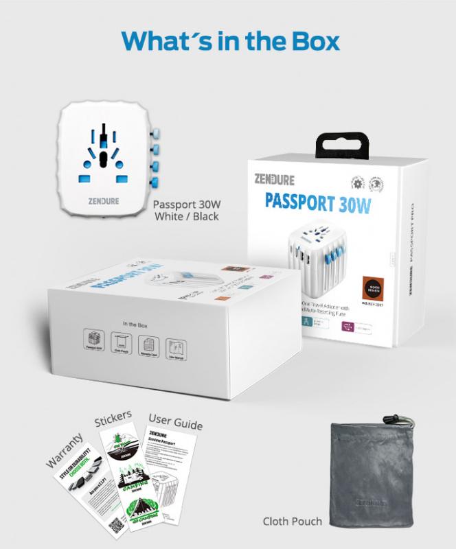 ZENDURE - Passport GO 旅行充電器 30W(一年保養)
