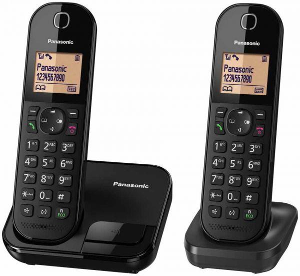 Panasonic - KX-TGC412 室內雙無線子母電話 黑色 Dect 1.8 Ghz (2部子機)