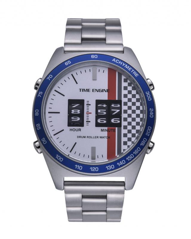3925-05 Time Engine 磨沙鋼帶滾筒手錶