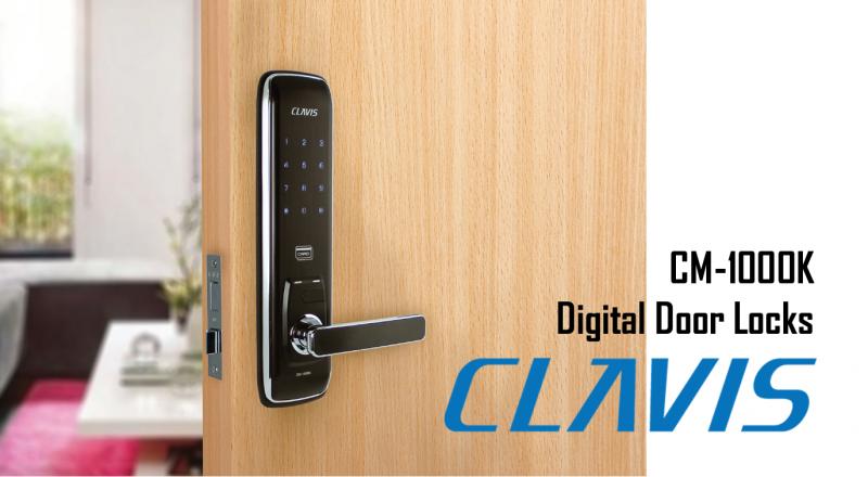 韓國Clavis CM-1000K 三合一功能韓式電子大門鎖