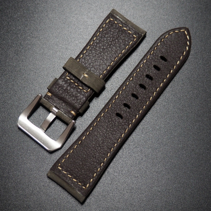 26mm Panerai 灰色高級牛皮錶帶