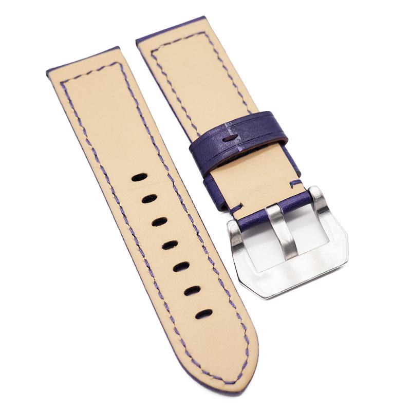 24mm Panerai 紫色意大利牛皮代用錶帶
