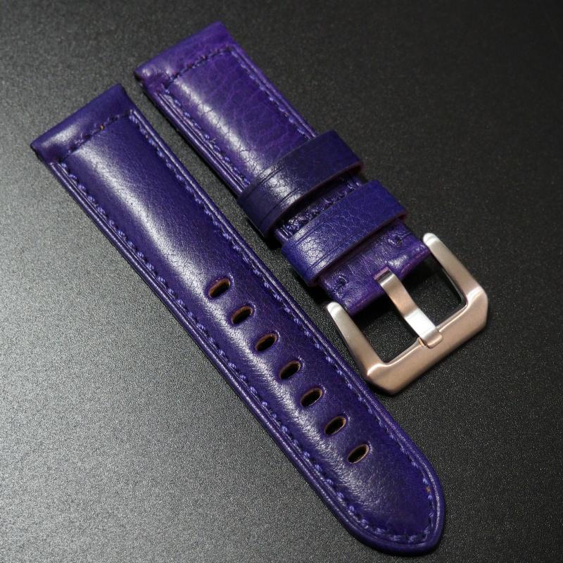 24mm Panerai 紫色意大利牛皮錶帶