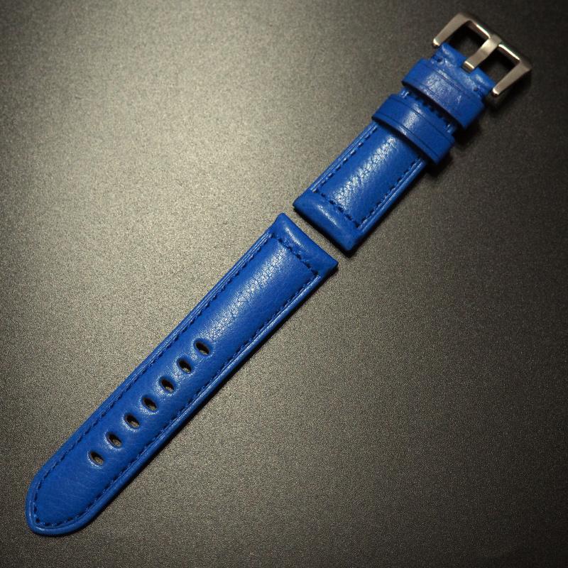 24mm Panerai 藍色意大利牛皮錶帶