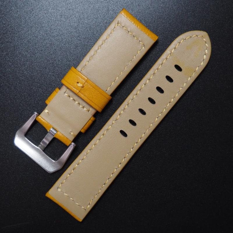 24mm Panerai 黃色意大利牛皮錶帶