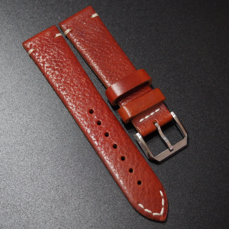 20mm 紅色經典羊皮錶帶 (Rolex, Omega, IWC , Tudor)