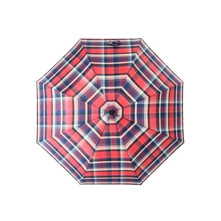 boy 兩折楓木彎柄紳士傘 (朱紅方格)