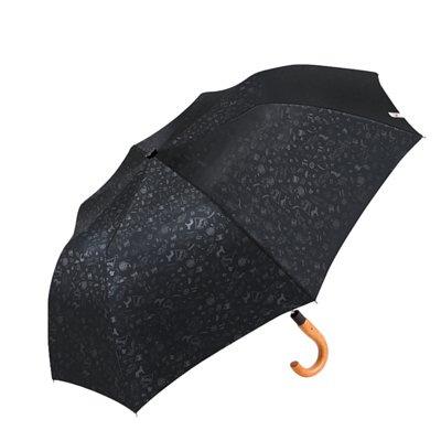 boy 兩折楓木彎柄紳士傘 (晶碳黑)