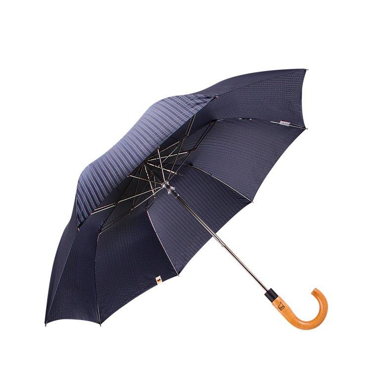 boy 兩折楓木彎柄紳士傘 (海靛藍)