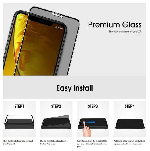 AOE - Apple iPhone 11 Pro Max / XS Max 保護貼3片裝高清全屏防窺保護貼+貼膜神器 Screen Protector