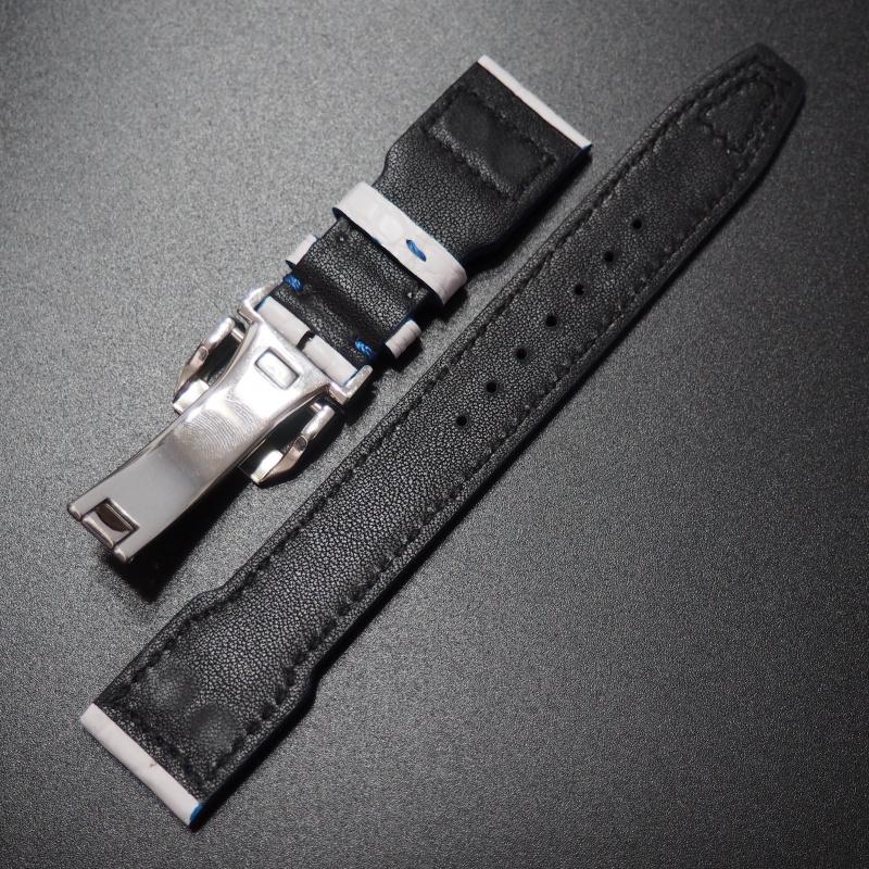 22mm IWC 飛行員白色鱷魚皮錶帶