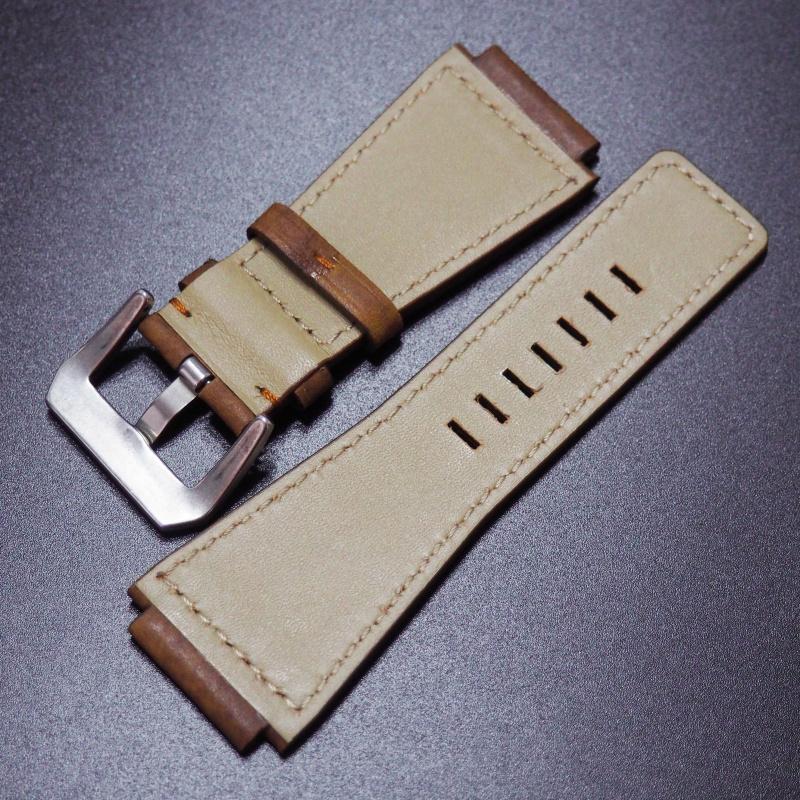 24mm Bell & Ross 棕色牛皮錶帶