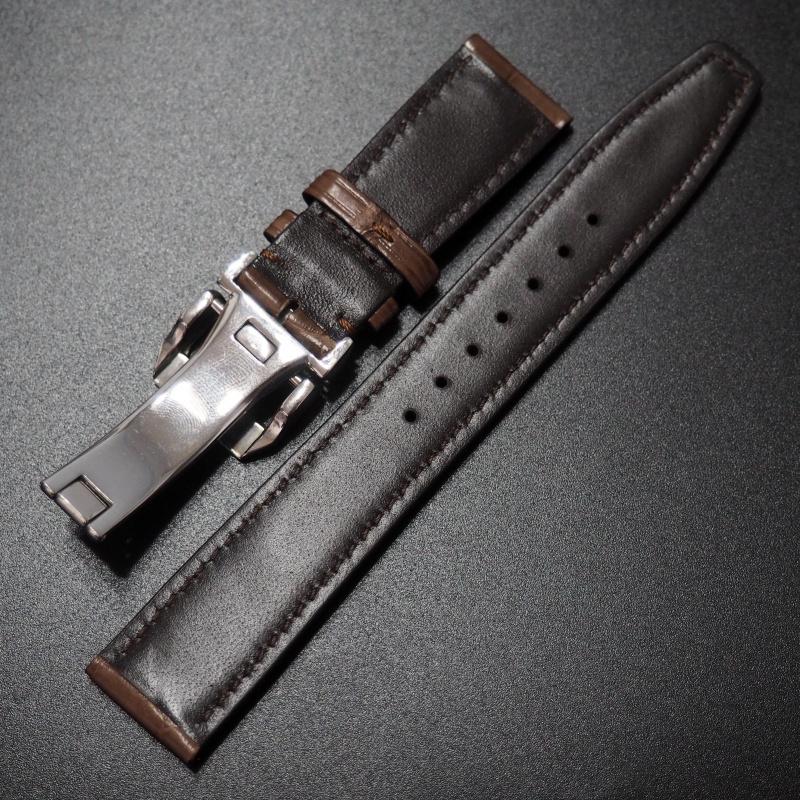 20mm IWC 蘋果橙色鱷魚皮錶帶