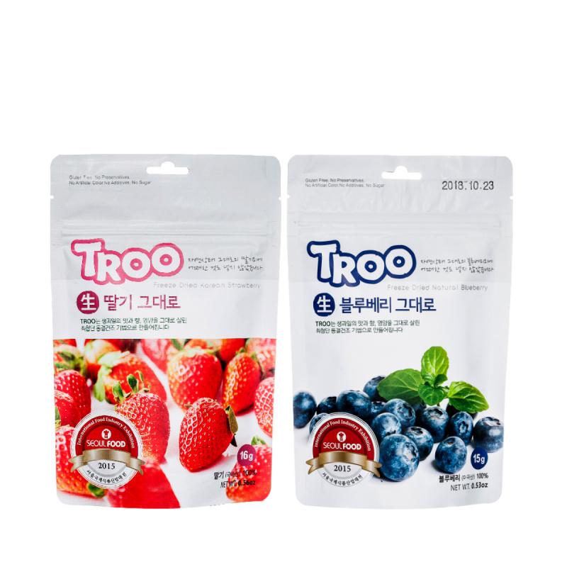 獲獎韓國天然冷凍乾果零食(草莓+藍莓)