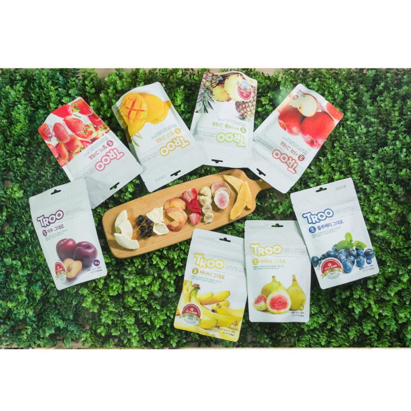 獲獎韓國天然冷凍乾果零食(菠蘿+草莓+芒果)