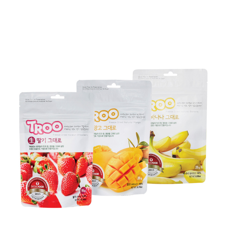 獲獎韓國天然冷凍乾果零食(草莓+芒果+香蕉)