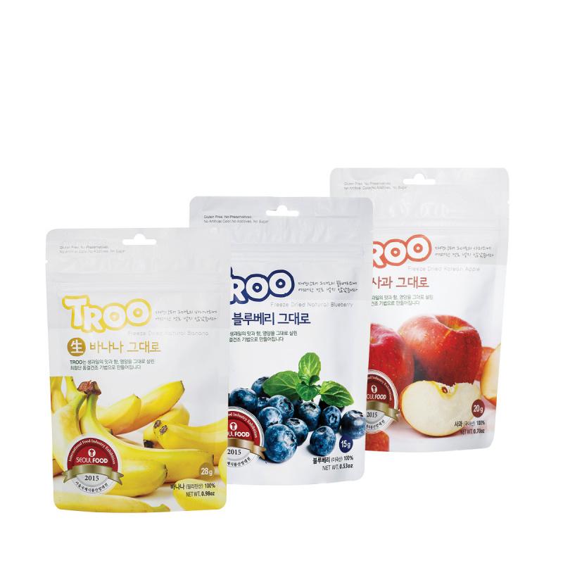 獲獎韓國天然冷凍乾果零食(香蕉+藍莓+蘋果)