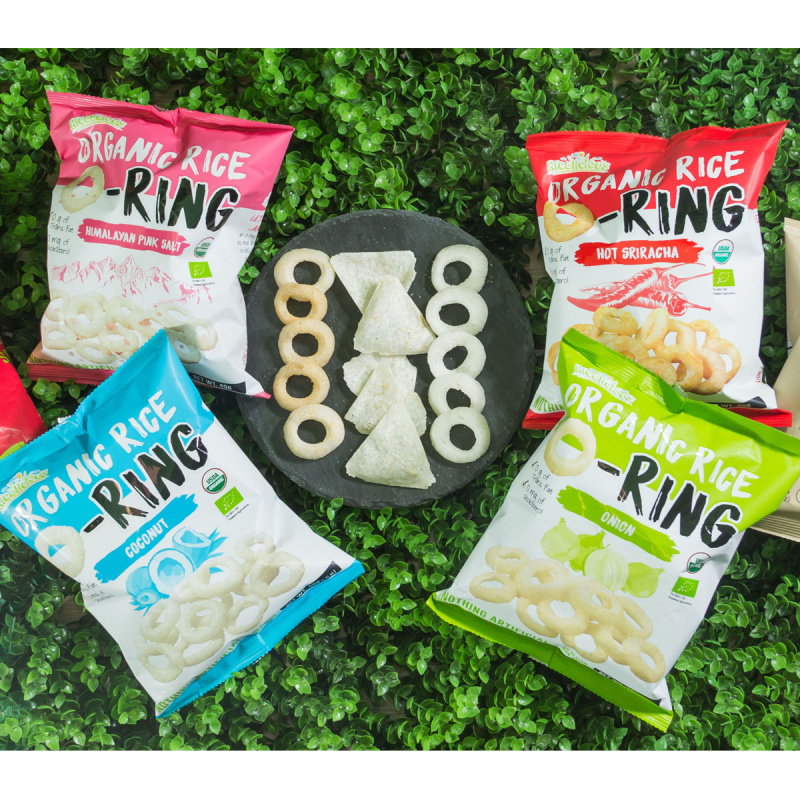 有機低糖香米烘焙脆米小食零食 40g (岩鹽) + 40g (洋蔥)