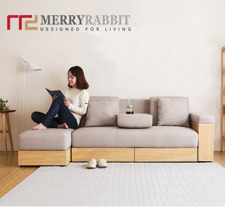 MerryRabbit - 布藝簡約小戶型多功能多功能茶几收納梳化床組合連儲物腳踏 MR-SS-001 [5色]