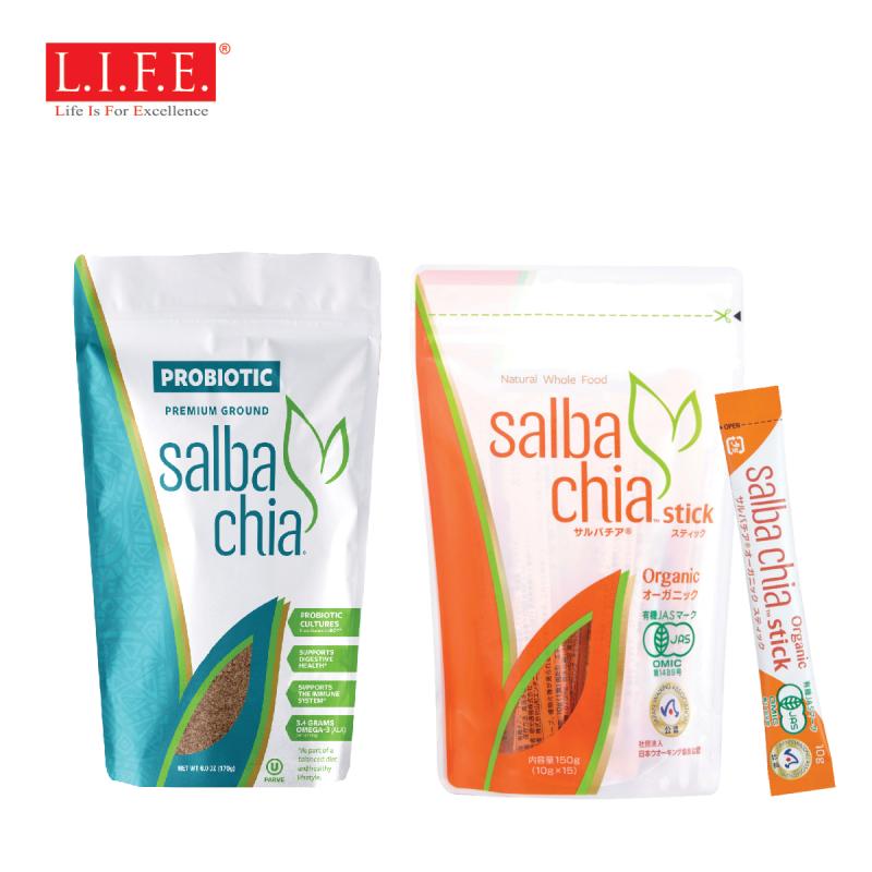 10億益生菌x超營奇亞籽170克 x 1 + Salba Chia 有機認證超營奇亞籽 10克x15包 x 1