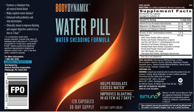 GNC BodyDynamix™ Water Pill 消腩去水腫瘦腿丸[120粒]