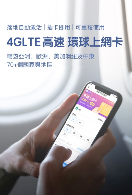 亞洲6區 無限上網數據卡 (包本地平郵)