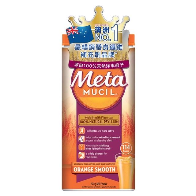 Metamucil - 天然膳食纖維粉 673g (橙味)