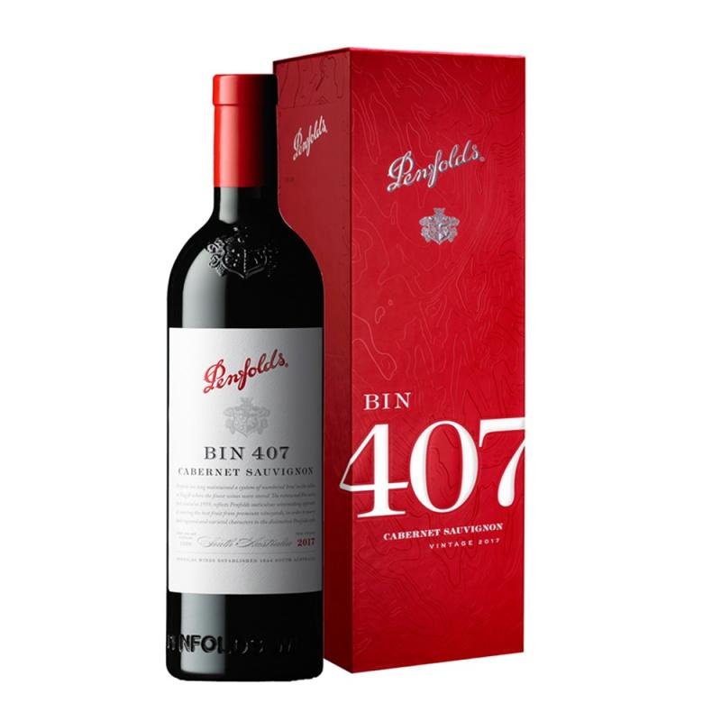 Penfolds Bin 407 Cabernet Sauvignon 2017 Cork 750ml 澳洲奔富赤霞珠紅酒木塞 (禮盒裝) - 12372085