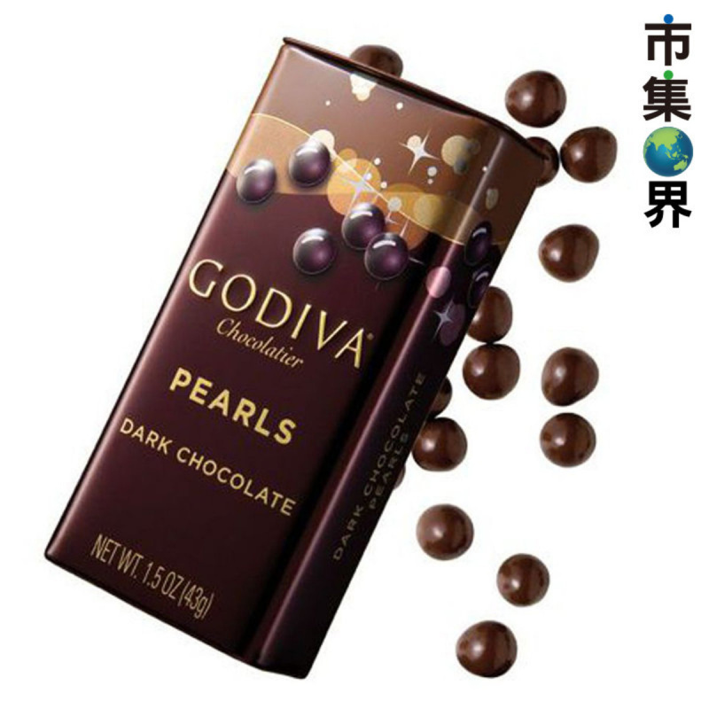 GODIVA 黑朱古力珍珠顆粒 鐵罐裝【市集世界 - MOAN】