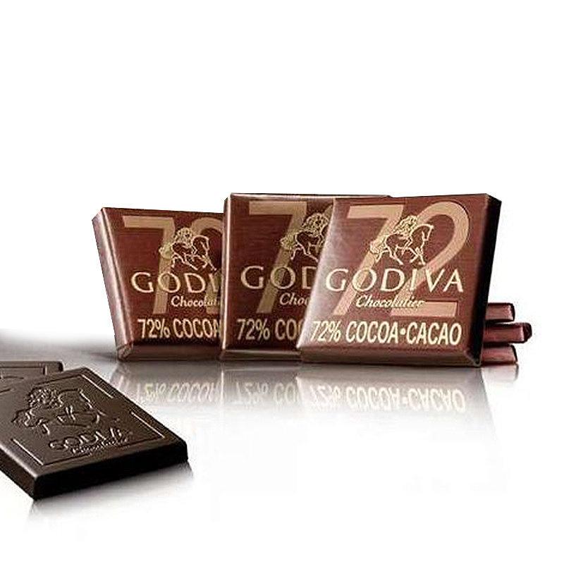 比利時版Godiva 72%黑方片 朱古力禮盒 (36片裝)【市集世界 - MOAN】