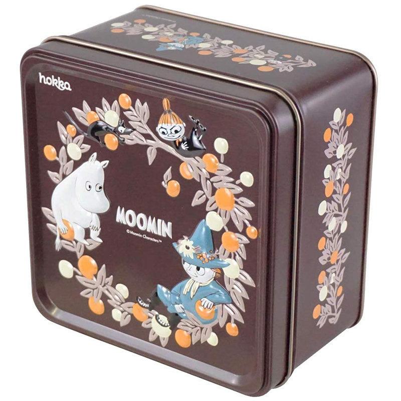 日版 姆明 阿美 史力奇 啡色鐵罐禮盒裝造型曲奇 (年度限定版)【市集世界 - 日本市集】