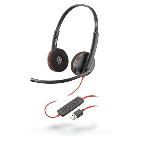 Poly BLACKWIRE C3220 USB-A 有線 UC 耳機