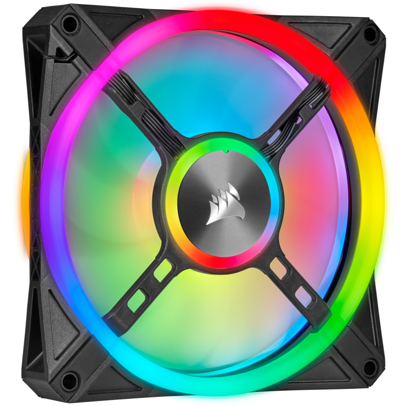 Corsair iCUE QL120 RGB 120mm PWM Triple Fan with Lighting Node CORE 散熱風扇 (CO-9050098-WW)