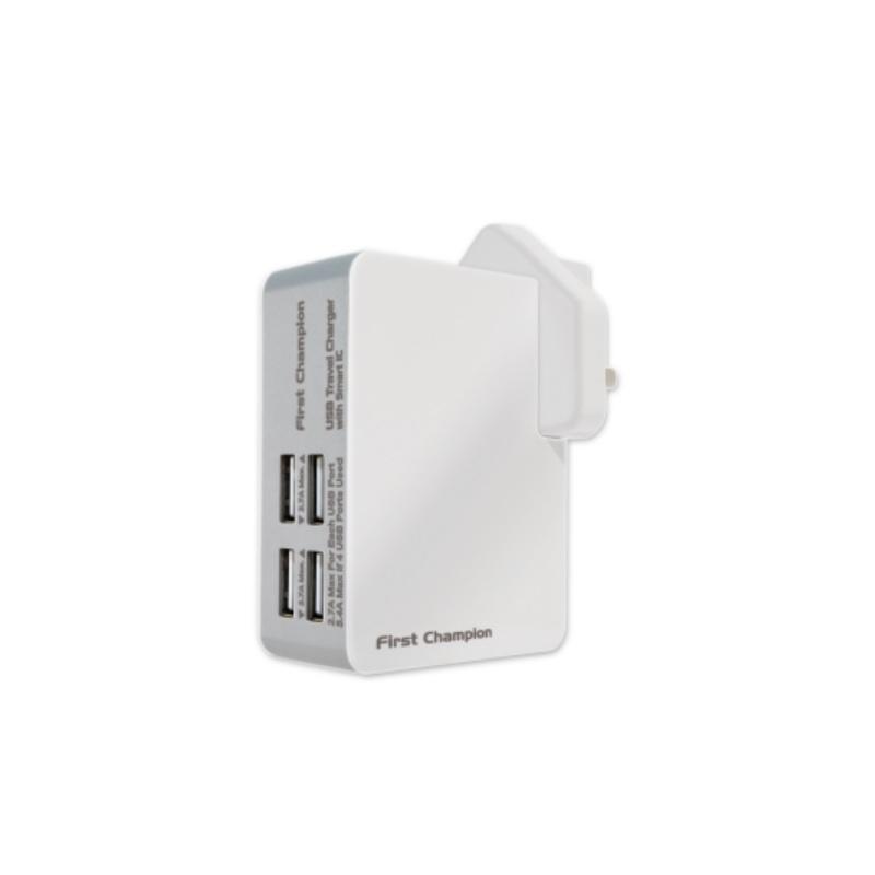 First Champion UTC405 USB Travel Charger 5.4A 【行貨保養】