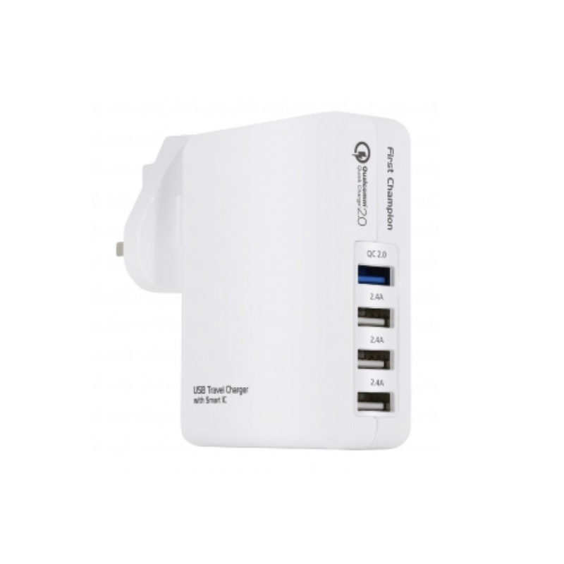 First Champion UTC408QC USB Travel Charger QC2.0 【行貨保養】
