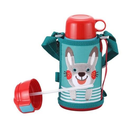 Tiger MBR-T06G 兒童兩用不銹鋼真空保溫杯600ml (兔子)