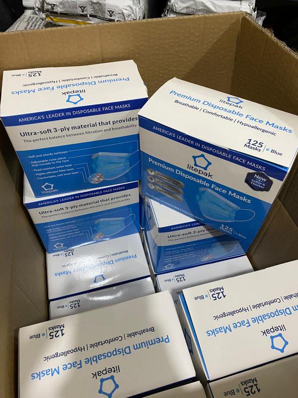 現貨 美國 litepak 醫療口罩 一盒 125 個 醫護優先 [對抗武漢肺炎] 🌟美國最多醫護人員使用🌟 ASTM level 2 主要俾老闆買俾員工 WHAT APP 65227066 【今日下單明天寄出】