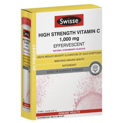 Swisse Ultiboost 增強免疫高濃度維他命C泡騰片 (60片)