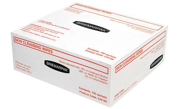 澳洲 Briemar 酒精消毒棉片(大張120x140mm) [50片/散裝無盒]