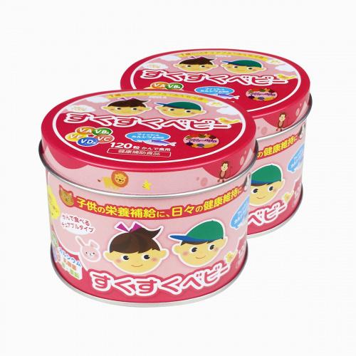 ZOVLA 兒童綜合營養鈣片 120粒/罐片 (混合水果味)