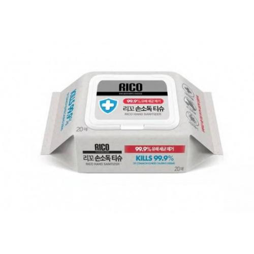 韓國 Rico 酒精消毒濕紙巾 (20片/包)