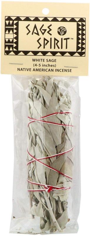 Sage Spirit, 印第安人焚香,鼠尾草,(4 - 5英寸)
