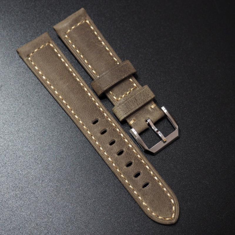 20mm 黃色意大利牛皮錶帶