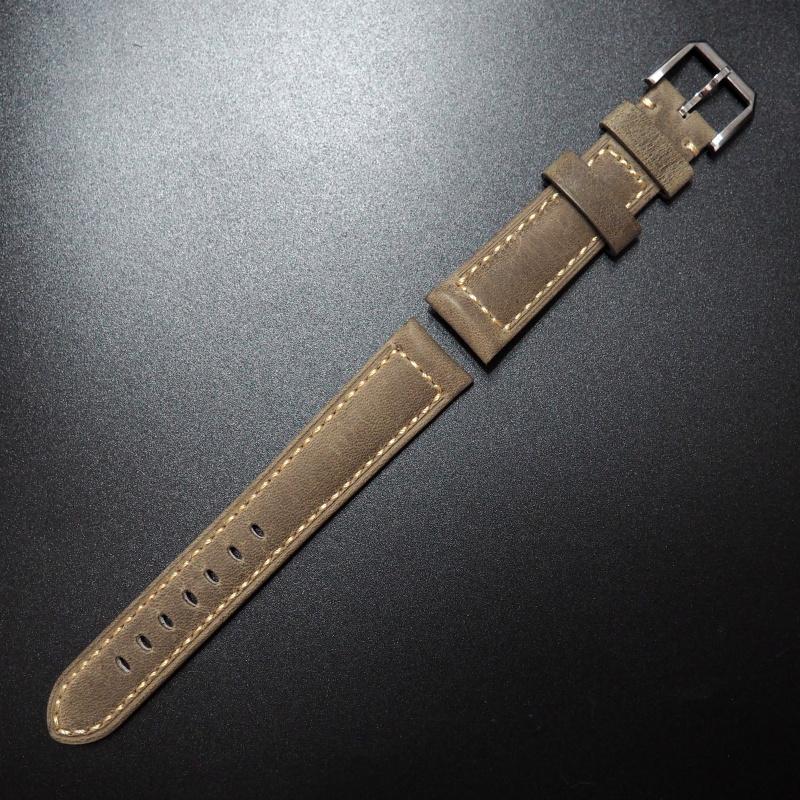 20mm Rolex 黃色意大利牛皮錶帶