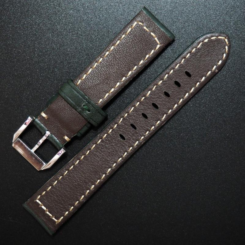 20mm Rolex 綠色意大利牛皮錶帶